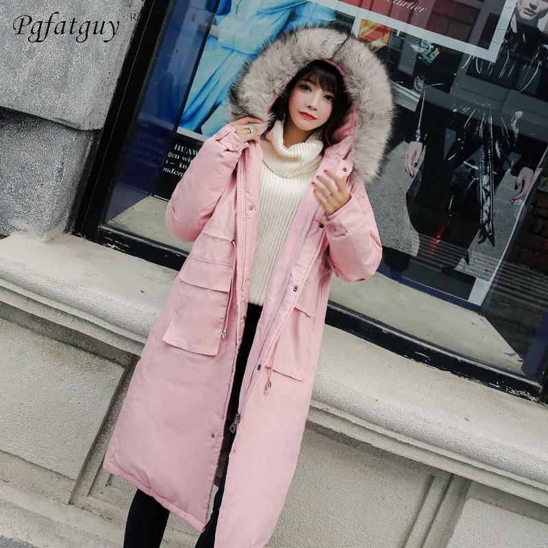 8f487f2b4c23 D hiver Pardessus Femmes Avec Noir Coton Hiver Casual Vestes Fourrure rose Parka  long blanc Grande À Parkas Capuchon Femme rouge X Manteaux Chaud vert ...