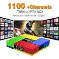 Europa Francês Árabe IPTV Canais incluído Android 6.0 Caixa de TV S912 T95Kpro Esporte Apoio Canal Plus Francês Iptv Set Top caixa