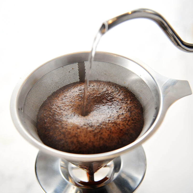 New <font><b>Portable</b></font> <font><b>Stainless</b></font> <font><b>Steel</b></font> Tea Coffee Filter Reusable Funnel Espresso Coffee Dripper Pour Over V-type Filter <font><b>Cup</b></font> Tea Tools