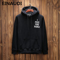 EINAUDI The Life Of Pablo Kanye West Yeezys Hoodie Men Hip Hop Pull Paris Opening Yeezus Tour  feel Like Paul Sweatshirts Yeezy