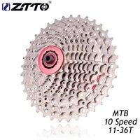 ZTTO MTB 산악 자전거 자전거 부품 10 속도 Freewheel 카세트 11-36T 호환 부품 M590 M610 M675 M780 XT SLX
