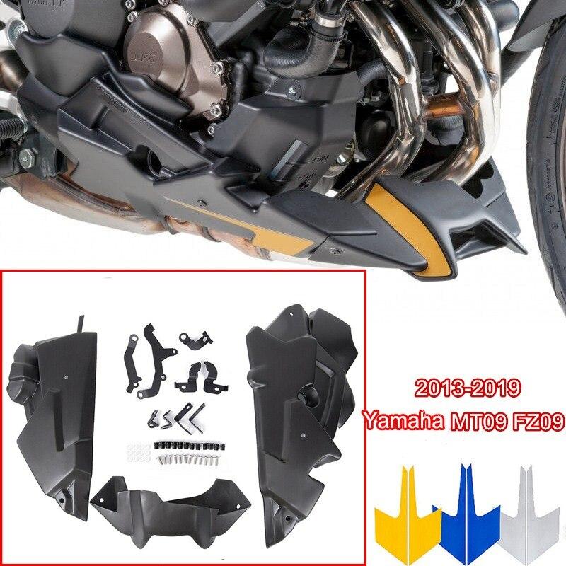 MT09 FZ09 FZ MT 09 トレーサー 900 GT 2018 オートバイ腹パンエンジンスポイラーサイドフェアリングボディヤマハ MT-09 FZ-09 2013-2019