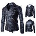 2016 Autumn winter men's fashion pu leather jacket men motorcycle leather jacket mens casual coat male punk style jacket M-XXL