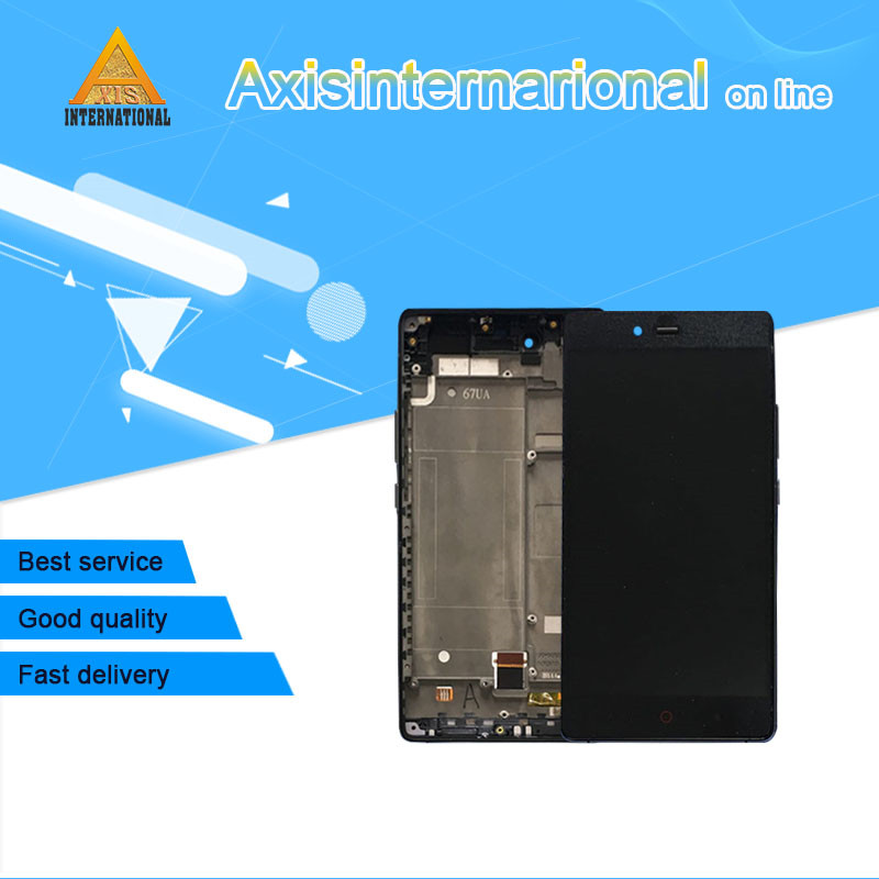 Axisinternational For ZTE Nubia Z9 Max NX510J NX512J LCD Display Screen+Touch Panel Digitizer With Frame For ZTE Nubia Z9 Max   Axisinternational For ZTE Nubia Z9 Max NX510J NX512J LCD Display Screen+Touch Panel Digitizer With Frame For ZTE Nubia Z9 Max