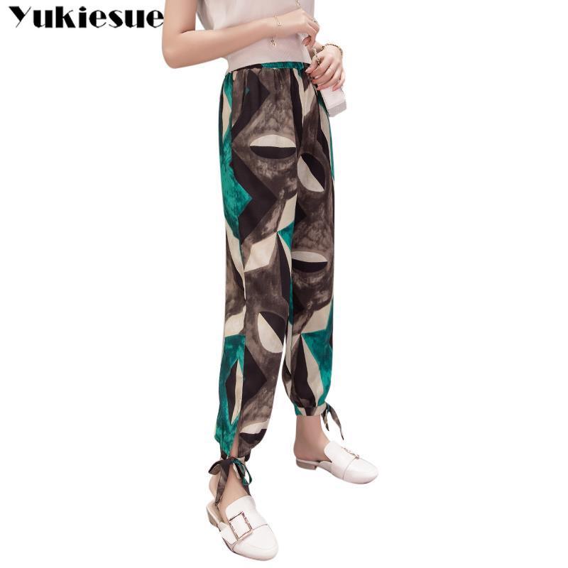 streetwear women's   pants     capris   with high waist printed boho harem   pants   for women trousers woman   pants   female Plus size XXL