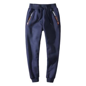 Image 4 - YIHUAHOO Winter Pants Men 6XL 7XL 8XL Casual Thick Fur Lining Warm Sweatpants Fleece Elastic Trousers Hoodie Track Pants Men