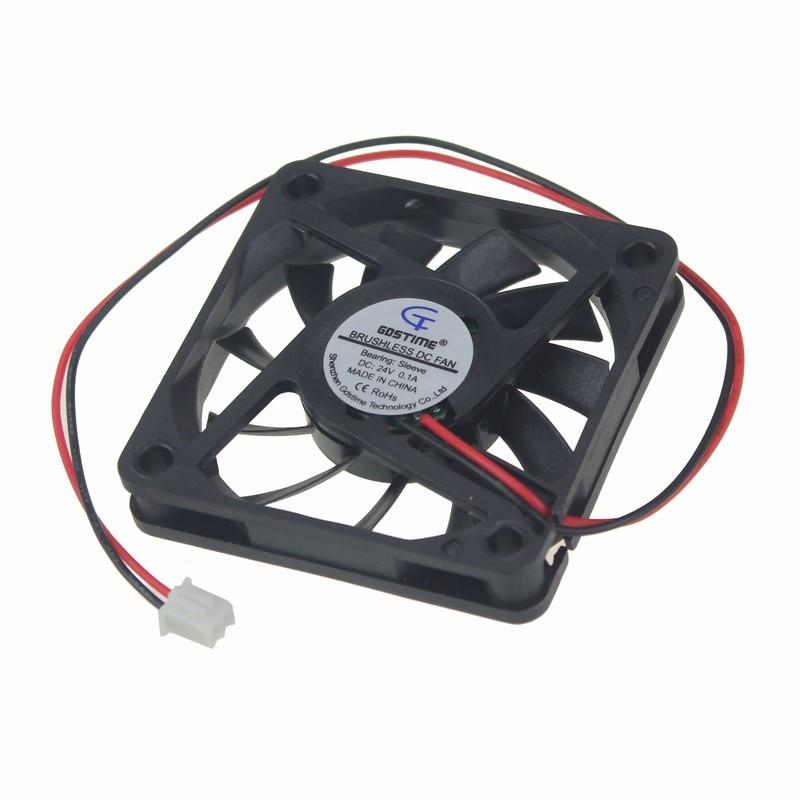 5 Pieces Gdstime 2Pin DC 24V Machine Equitment Cooling Fan 6cm 60x60x10mm 60mm