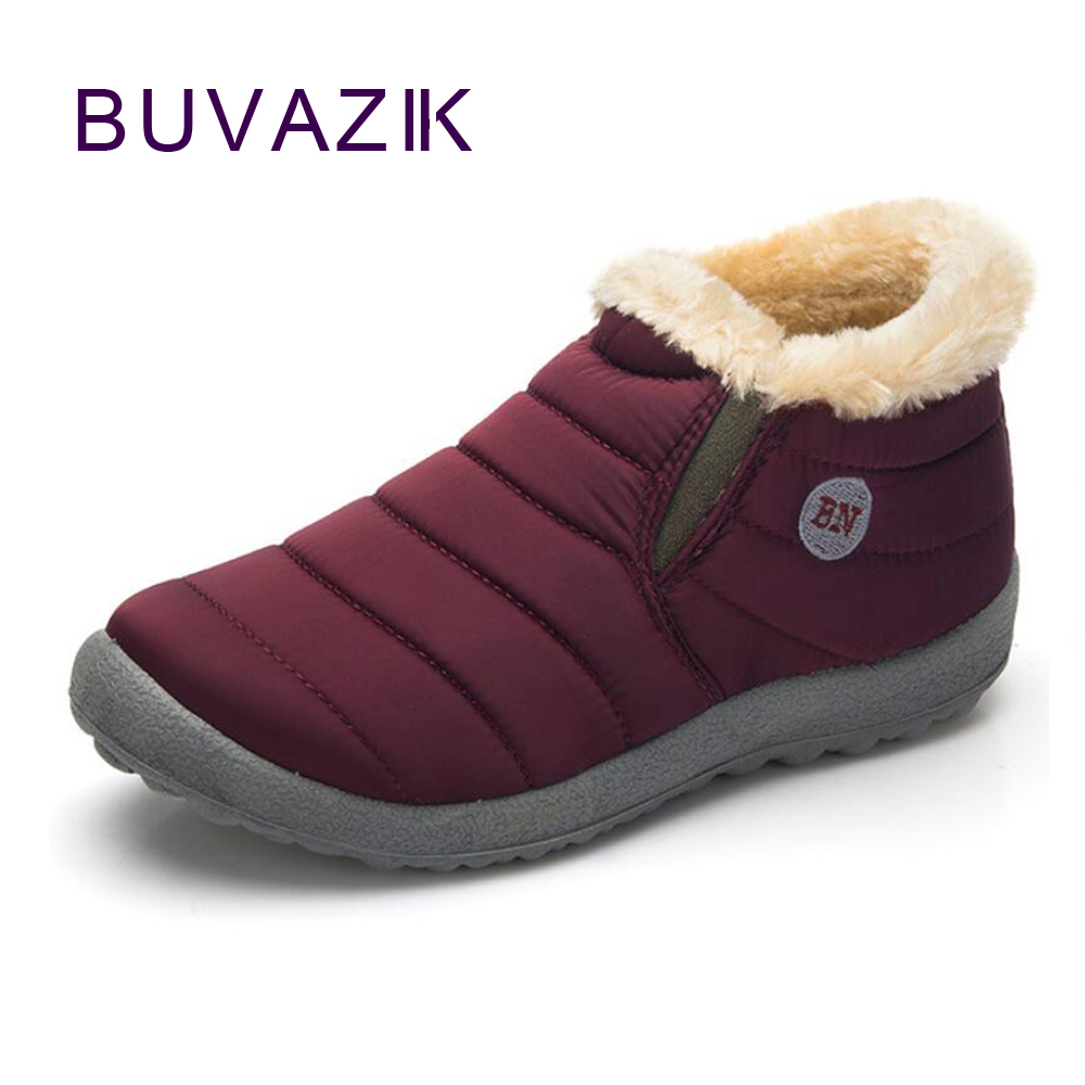 2017 winter warm cotton short snow boot for women plus thickening waterproof plush shoes outdoor low heel non-slip yin qi shi man winter outdoor shoes hiking camping trip high top hiking boots cow leather durable female plush warm outdoor boot