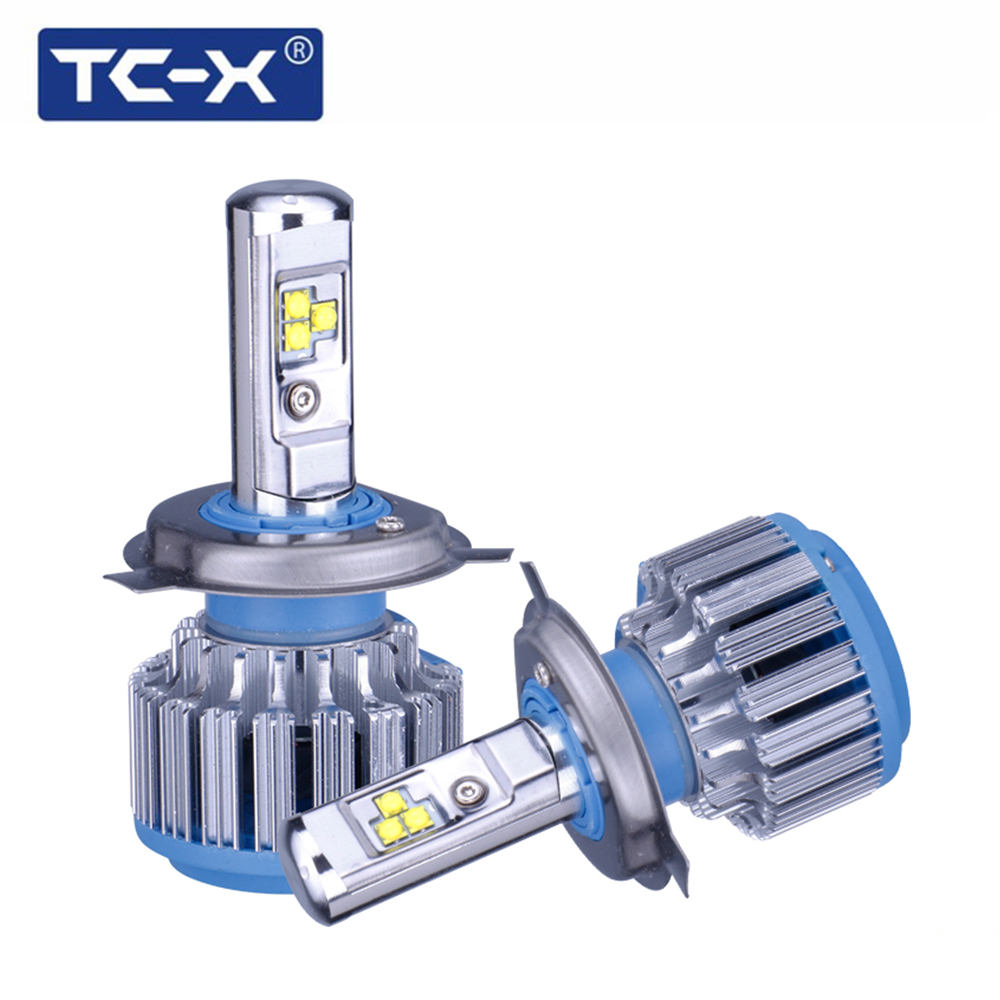 TC-X 2 Bombillas / Set LED Car Light H4 Hi lo beam bombillas de faros LED H7 H1 H11 9006 9005 H27 / 880 Auto Bulb Headlamp 6000K Light