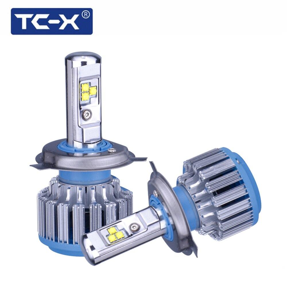 TC-X 2 Lampadine/Set HA CONDOTTO LA Luce Dell'automobile H4 hi lo fascio led headlight lampadine H7 H1 H11 9006 9005 H27/880 Auto Lampadina Del Faro 6000 K Luce