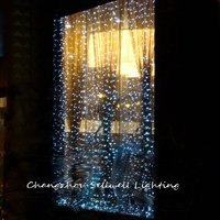 Great!christams Lamp Showcase Decoration 3*4m White Led Star Lighting H041