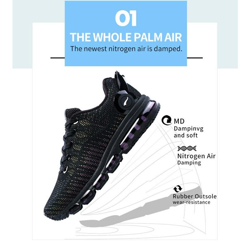 ONEMIX Réfléchissant Dessus Air Chaussures de course Pour Hommes Baskets Légères Femmes de Marche Sports de Plein Air de Sport Formateurs - 4