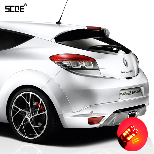 for renault megane 3 5 door 3 sport tourer scoe 2x 30smd led brake stop parking rear tail. Black Bedroom Furniture Sets. Home Design Ideas