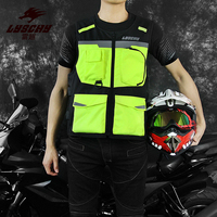LYSCHY Motorcycle Reflective Vest Motorbike Racing Vest Street Off Road Safety Jacket Oxford Moto Vest With Protectors M XXXXL