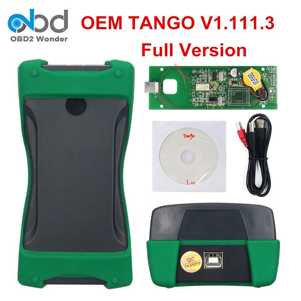 Best Prezzo TANGO OEM OBD II Programmatore Chiave Versione Completa V1.111.3 Chiave Auto Transponder Tango OBDII Scanner Esemplare di Controllo Remoto