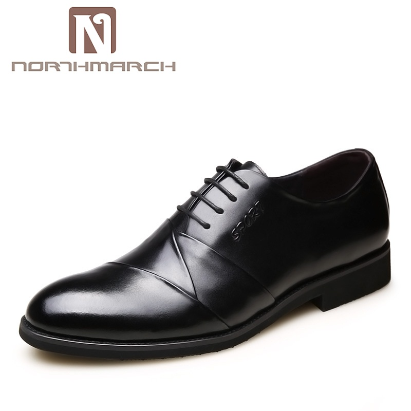 NORTHMARCH Fashion Genuine Leather Men Oxford Shoes Lace Up Casual Business Men Wedding Shoes Classic Men Formal Shoes Sapatos цена 2017