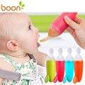 Seguro boon enrole apertando garrafa colheres colher de alimentação do bebê colher de bebê de alimentação do bebê sem bpa