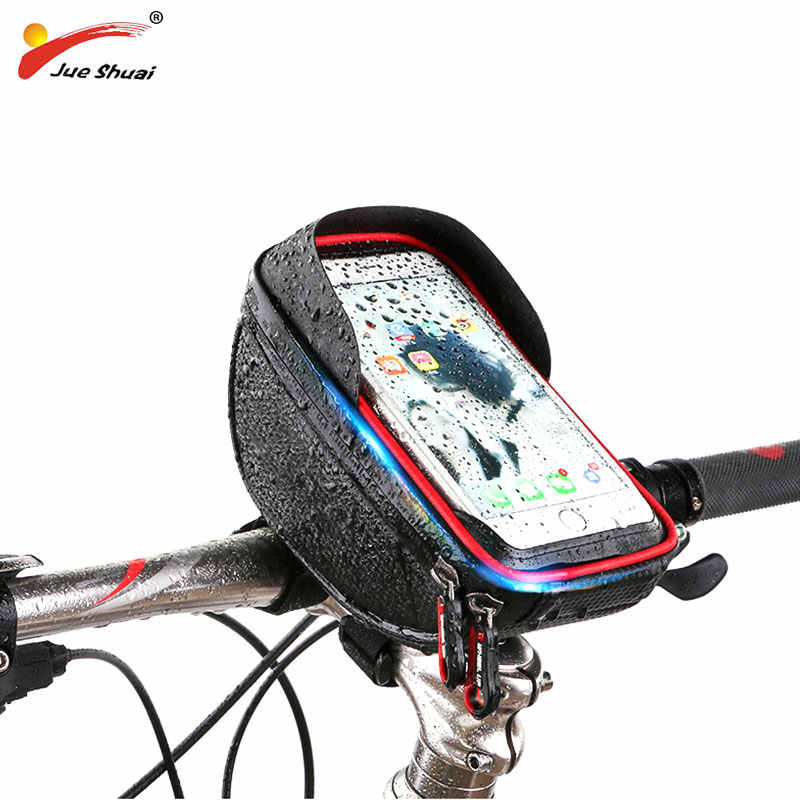 Bicycle Bag Waterproof Phone Holder Bike Bag 6 Inch Touch Screen Phone Holder Bicycle Handlebar Bags Bycicle Accessories
