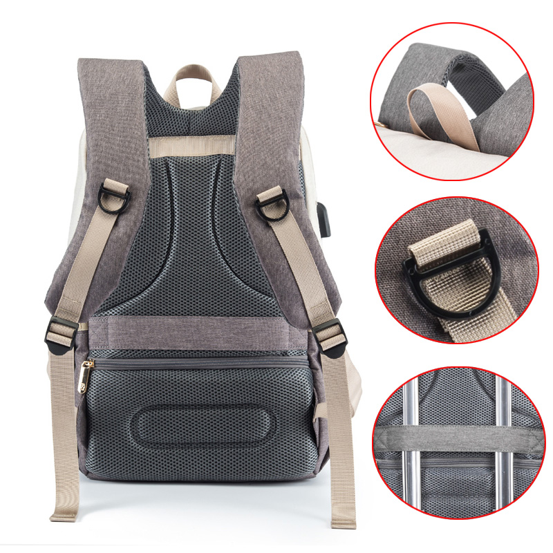 Baby Diaper Bags for Dads Moms Backpack Large Capacity Waterproof Nursing Bags Travel Stroller Bag Luxury Organizer For Twins 4