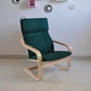 Sedie Di Legno Colorate Ikea.Ikea Nordic Wind Fabric Wood Chair Recliner Armchair Balcony