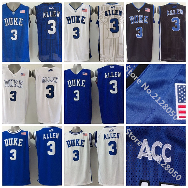 2f3dd6713a9 2016 Newest 3 Grayson Allen Jersey Duke Blue Devils College Basketball  Jersey Black White ACC Logo Stitched Top Quality Hot Sale