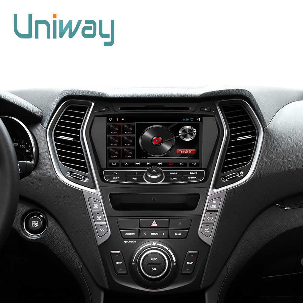 Thome Michel ZIX458071 2G + 32G android 8,1 reproductor de dvd del coche para Hyundai Santa FE IX45 2013 estéreo 2014 radio de coche gps de navegación