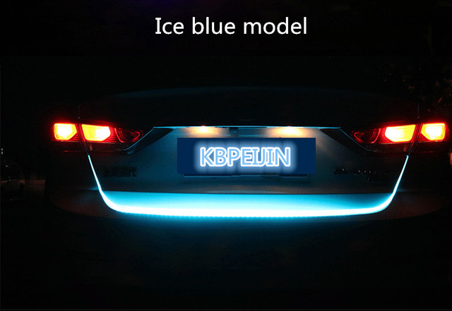 Accessories Led Dynamic Trunk Strip Lighting Rear Tail Light Sticker For Acura Mdx Rdx Tl Tsx