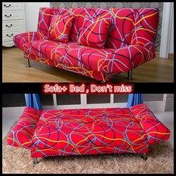 Sofá cama plegable multifuncional con muchos colores y 3 tamaños para 1 a 3 personas