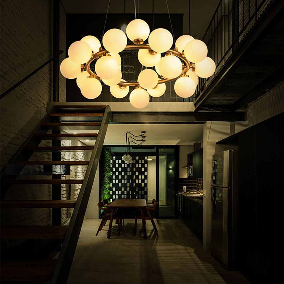 Shop by manufacturer next dna triple pendant light - Led G4 Nordic Iron Glass Molecular Led Lamp Led Light Pendant Lights Pendant Lamp