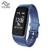 Original TTLIFE Fitness Tracker Pedometer Smart Wristband Touch Key Smart Bracelet Heart Rate Monitor Smartband For