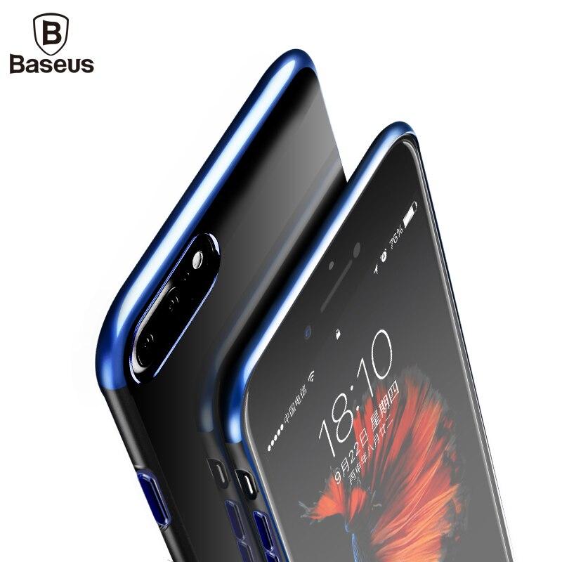 Baseus Ultra Thin Glitter Fall Für iPhone 8 7 7 Plus Luxus Harte PC Plating Zurück Schutzhülle Für Apple iPhone 8 7 Plus Fall