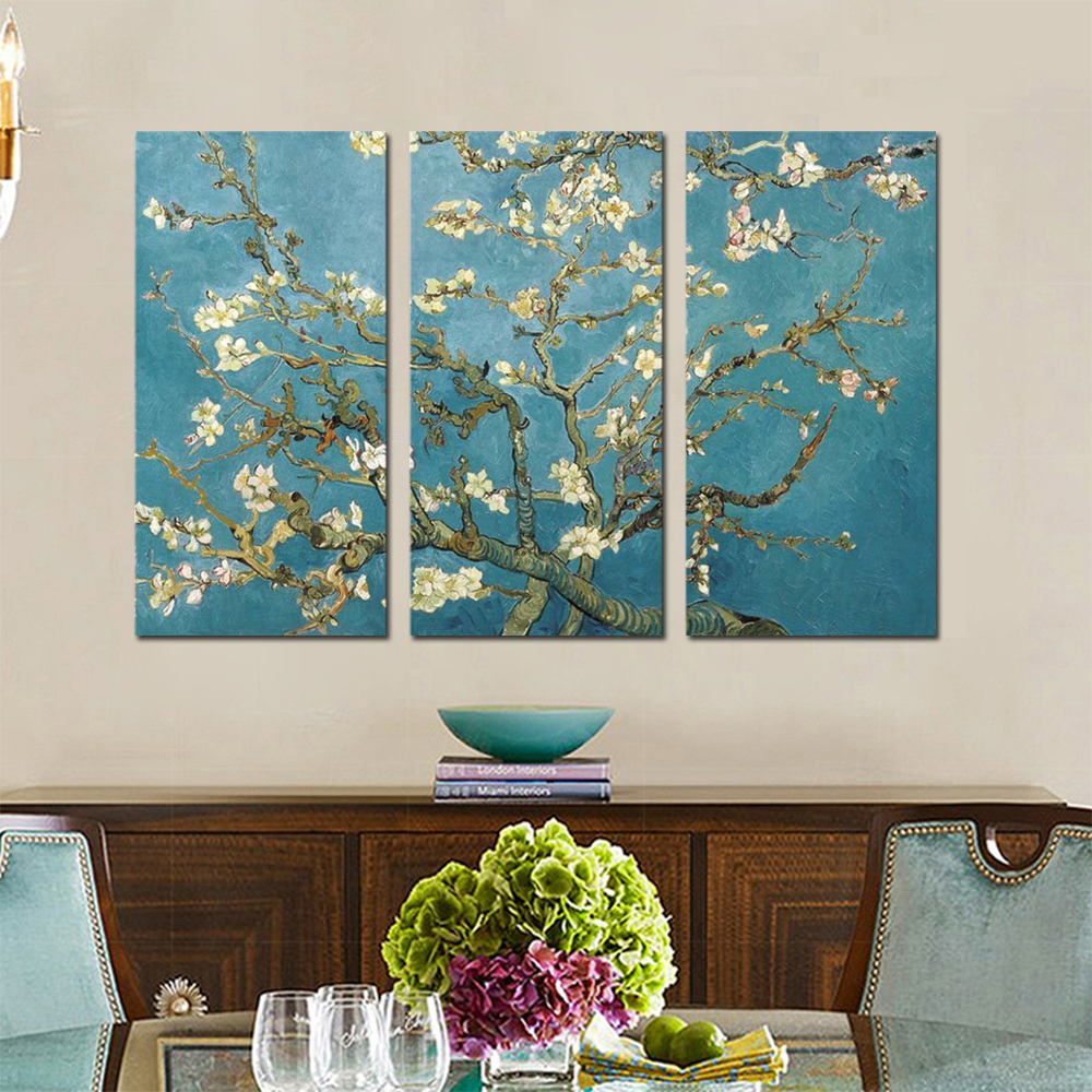 Unframed Canvas Art Paintings Van Gogh Apricot Flower Giclee Wall Decor Prints Wall Pictures For Living Room Wall Art Decoration