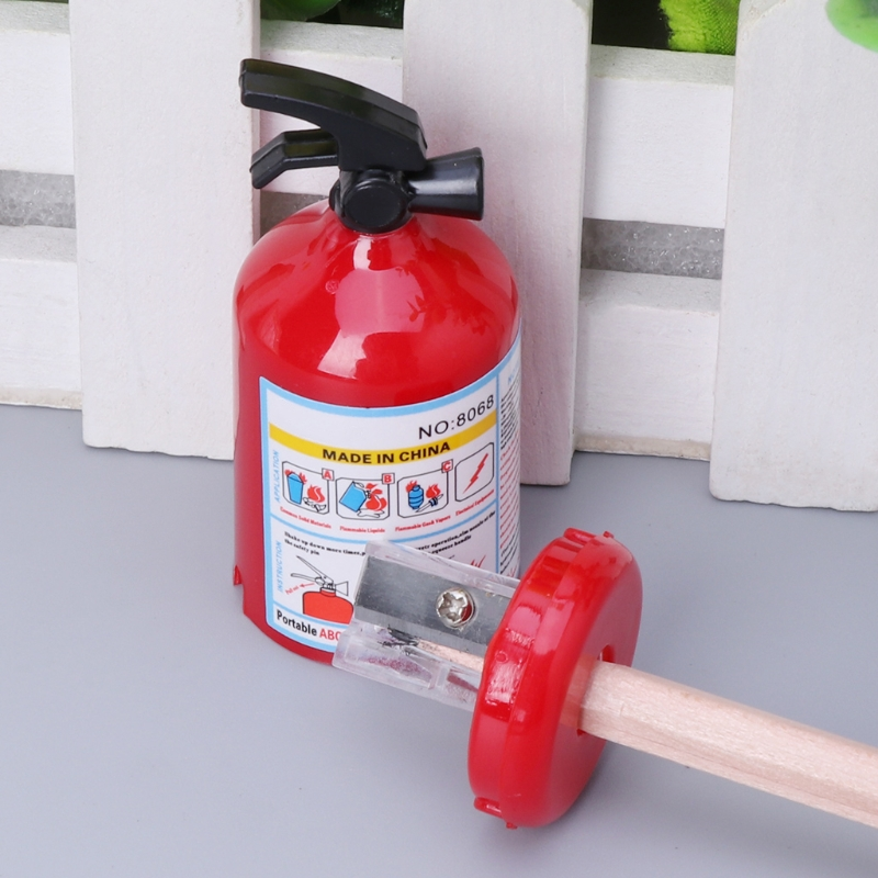 pencil sharpener fire extinguisher shape student stationery for kids pri RER