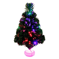 45cm Mini Fiber Optics Christmas Tree Artificial With LED And Stand For New Year Xmas DIY