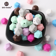 Let's Make Wholesale 500pcs Silicone Beads Can Chew Faceted