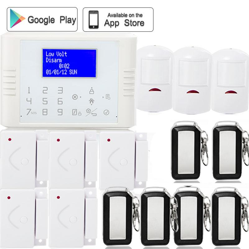 433mhz Wireless IOS/Android APP Control GSM PSTN dual network alarm System SIM card color LCD display with PIR motion detector free dhl 868mhz wireless pstn wireless alarm system gsm network smart app gsm pstn alarm gsm alarm system 868mhz