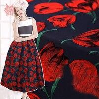 יוקרה צרפת סגנון טוליפ פרחי בד במשקל כבד מעיל שמלת אקארד brocade tissu tela tecidos SP4648 חוט משלוח חינם