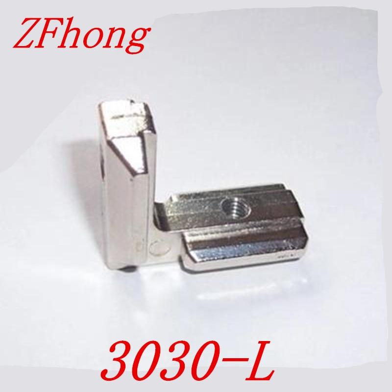 цена на 3030 T Slot L Shape Type 90 Degree 3030 Aluminum Profile Accessories Inside Corner Connector Bracket with M6 Screw