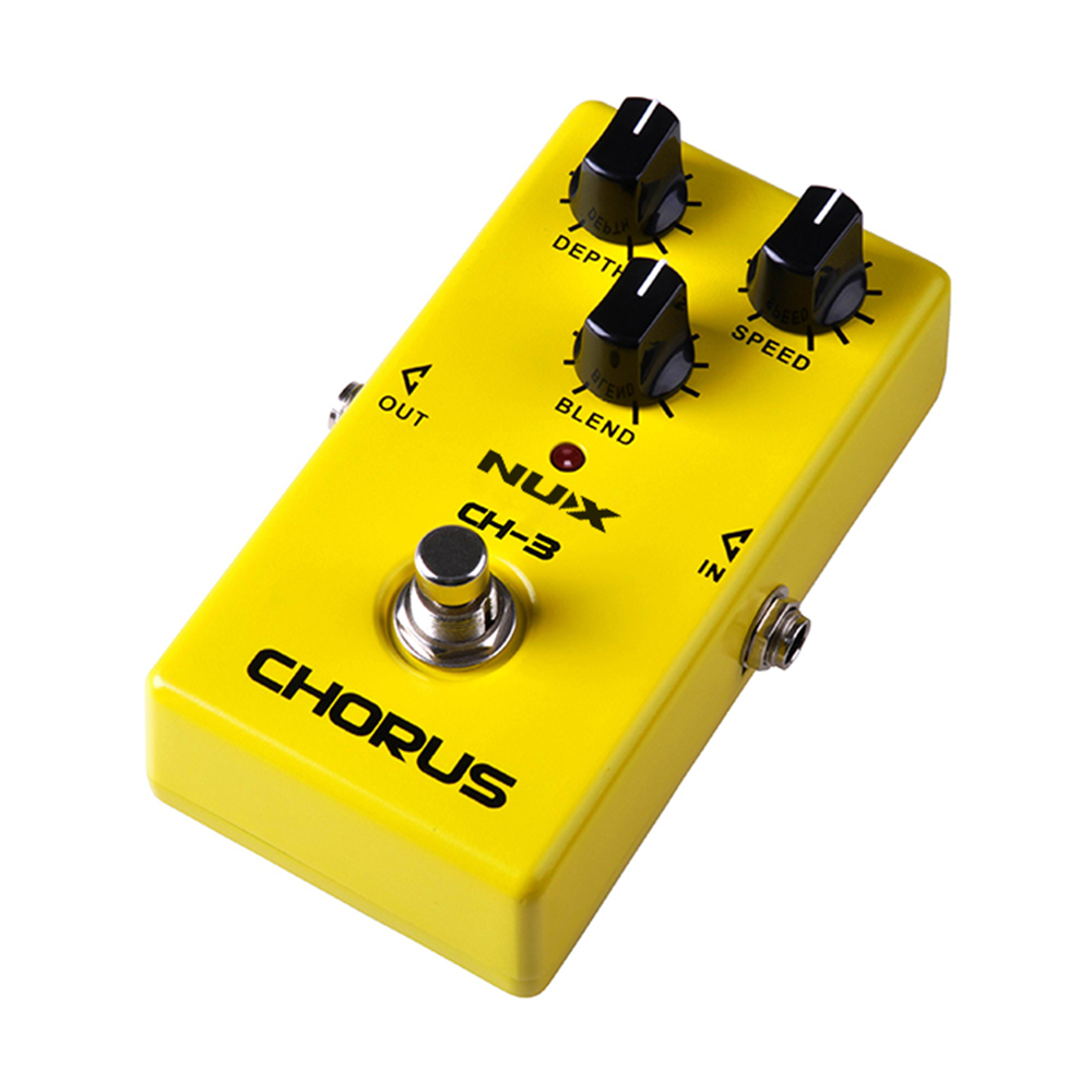 NUX CH-3 Vintage Chorus Guitar Effect Pedal Highly Quality with Ture Bypass Low Noise BBD Yellow Color Guitar Effects aroma adr 3 dumbler amp simulator guitar effect pedal mini single pedals with true bypass aluminium alloy guitar accessories