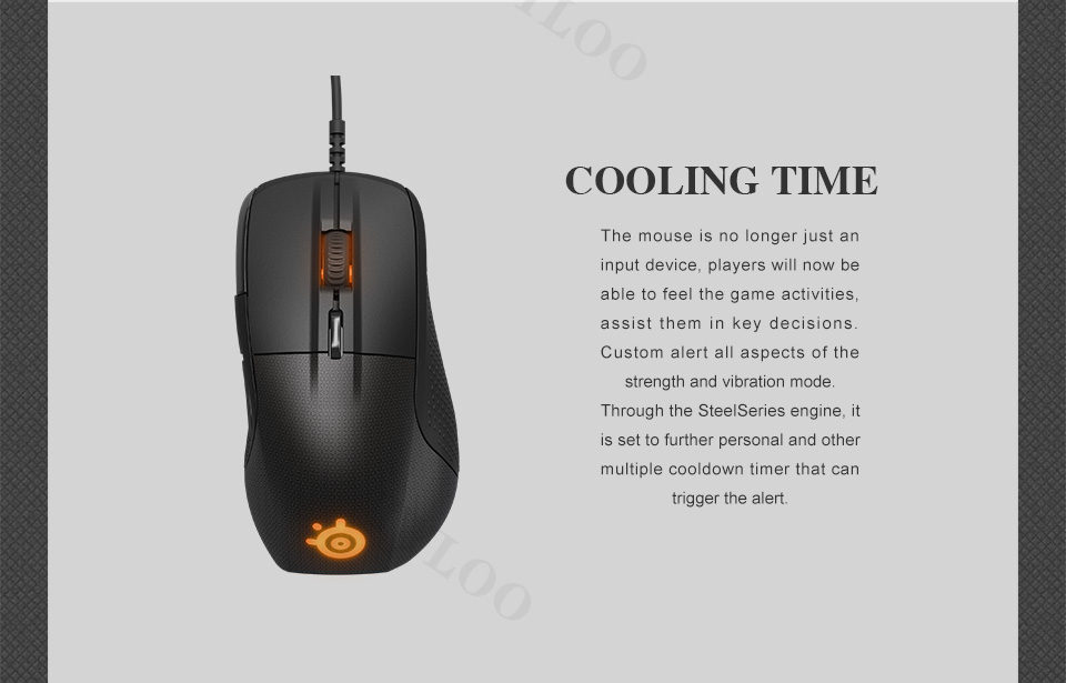 SteelSeries Rival 700 Gaming Mouse  USB Wired Mice 6500 DPI Optical Mouse Black Edition For FPS RTS MMO LOL Gamer Cheap 3