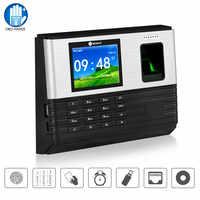 Sistema biométrico do gravador do tempo da cópia do dedo do cartão rfid da máquina do comparecimento do tempo da impressão digital de 2.8 polegadas, bateria do apoio