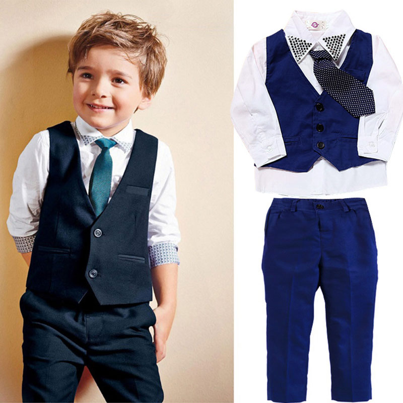 Kids Boys Clothes Sets Gentleman Casual Handsome Fashion Children Clothing Set Spring Autumn Baby Clothes Suit 1 2 3 4 5 6 Years Одежда