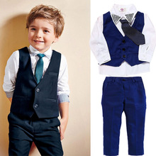 цена на Kids Boys Clothes Sets Gentleman Casual Handsome Fashion Children Clothing Set Spring Autumn Baby Clothes Suit 1 2 3 4 5 6 Years