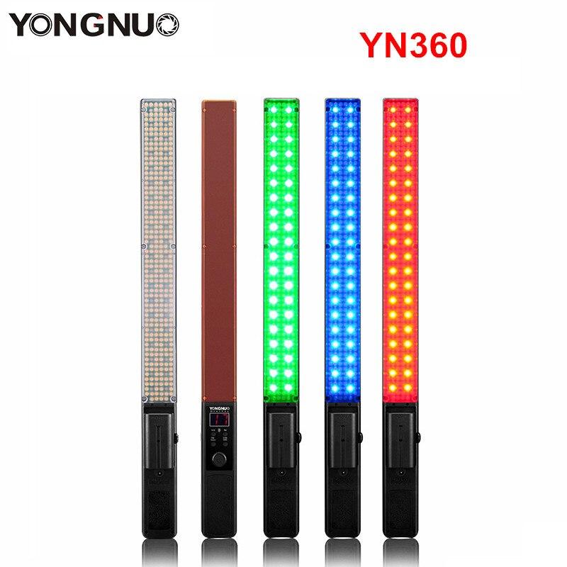 Image 2 - Yongnuo YN360 YN360 II يده عصا الثلج LED الفيديو الضوئي المدمج في بطارية 3200k إلى 5500k RGB الملونة التي تسيطر عليها التطبيق الهاتفlight phoneyongnuo controlleryongnuo battery -