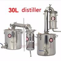 Бытовой 25L большой емкости из нержавеющей стали вино пивоварения машина оборудование спиртовой водки ликер дистиллятор горшок/котлы 1 шт.