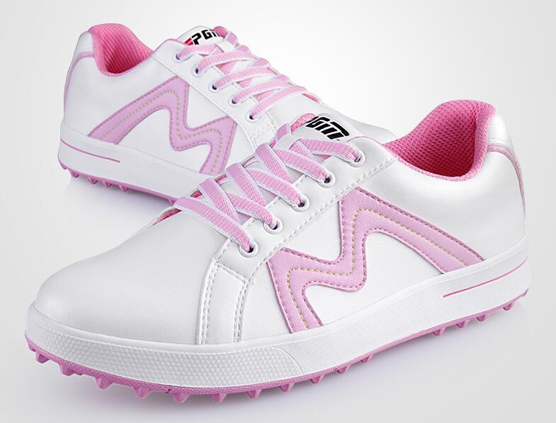 Лидер продаж! PGM дамы Для женщин спортивная обувь Пояса из натуральной кожи обувь Гольф спортивные Light & устойчивый и Водонепроницаемый. Пода...