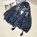 2016 Classical Ethnic Floral Scarves Women Ancient Scarf Tassels Beach Sarongs High Quality