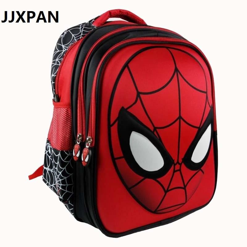 16 Zoll Kühlen Kinder Schule Taschen 3d Stereo Spiderman Cartoon Schule Rucksack Tasche Für Jungen Kinder Satchel Mochila Infantil VerrüCkter Preis