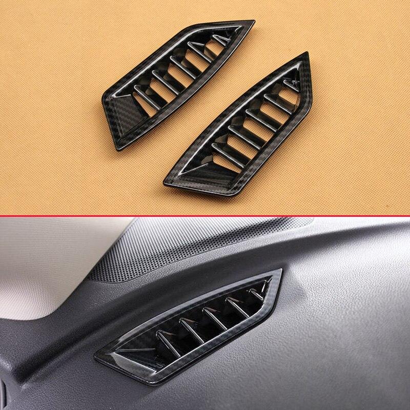 For Honda CIVIC 2016-2018 ABS Blue Interior Dashboard Upper Air Vent Trim *2