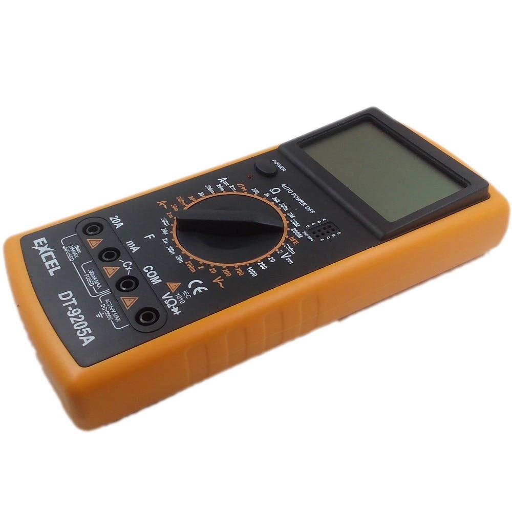 Professzionális digitális multiméter Multimetro EXCEL DT9205A AC - Mérőműszerek - Fénykép 4